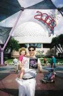 Dr. Lorne Levy and daughter Bayley at Epcot Centre enjoying the Millennium celebrations at Disneyworld.