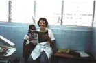 Dr. Ivalise Alvarez Rosa and friend in Cienfuegos, Cuba with their favorite dental journal.
