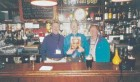 Drs. Peter Kyle and Doug Caine of London, ON, share a pint and their copy of Oral Health with the owner of 'The Front Page' Pub, John Michael Hatton, in Belfast, Northern Ireland. Mr. Hatton's niece, Jackie Duffy, is Dr. Kyle's former dental assistant. Aha!