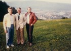 Vident founders Vern Hale, Wayne Whitehill and Ray Morrow in the early years, overlooking Bad Sackingen, Germany, headquarters of VITA