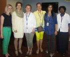 Dr. Archer (second to left), poses with staff and nurses at the Oral Hygiene Presentation.