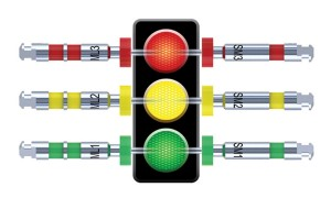 FIGURE 2. Colour-Coded File Identification. An intuitive, color-coded system designed for efficiency and ease of use. Just like a traffic light – start with green and stop with red.