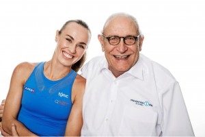 """The new dream pairing in the dental industry, Martina Hingis and Uefi Breitschmid, owner and CEO of Swiss dentaf supplier Curaden: """"Together, we're the names on everyone's lips. """""""