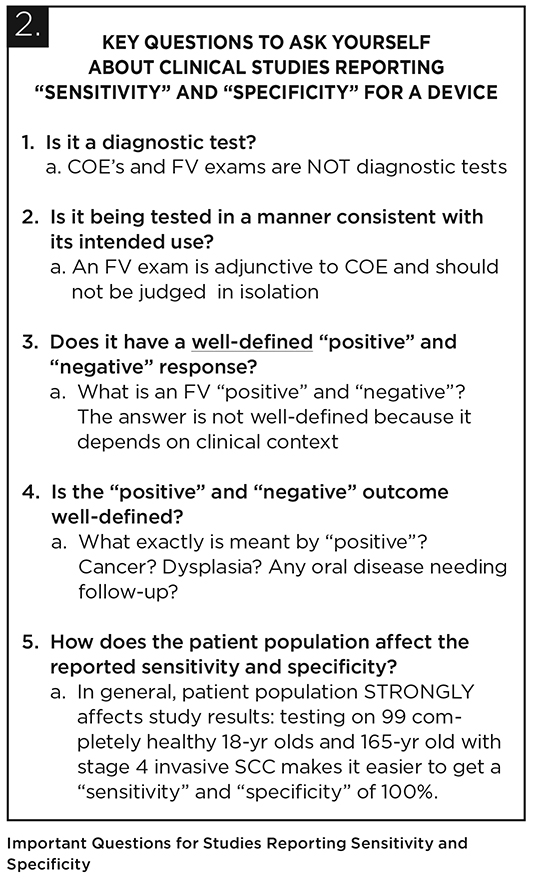 FIGURE 2. Important Questions for Studies Reporting Sensitivity and Specificity