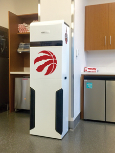 Air Purification System for NBA Toronto Raptors Basketball team from Surgically Clean Air.