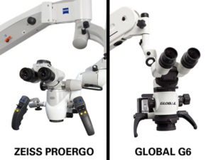 Zeiss and Global Surgical microscopes with magnification and simultaneous illumination bring the dentist closer to reality.When dentists can see it, they can do it.