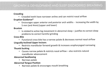 Common Orthodontic issues related to sleep problems.