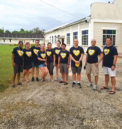 Team Savanna-la-Mar outside their clinic in Jamaica.