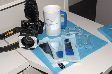 It is very important for efficiency that the staff have everything ready and easily accessible for photography.