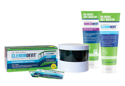 Cleanadent Crystals and Paste.