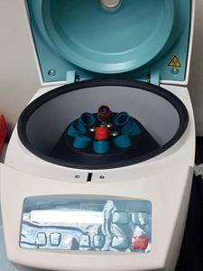 Standard centrifuge.