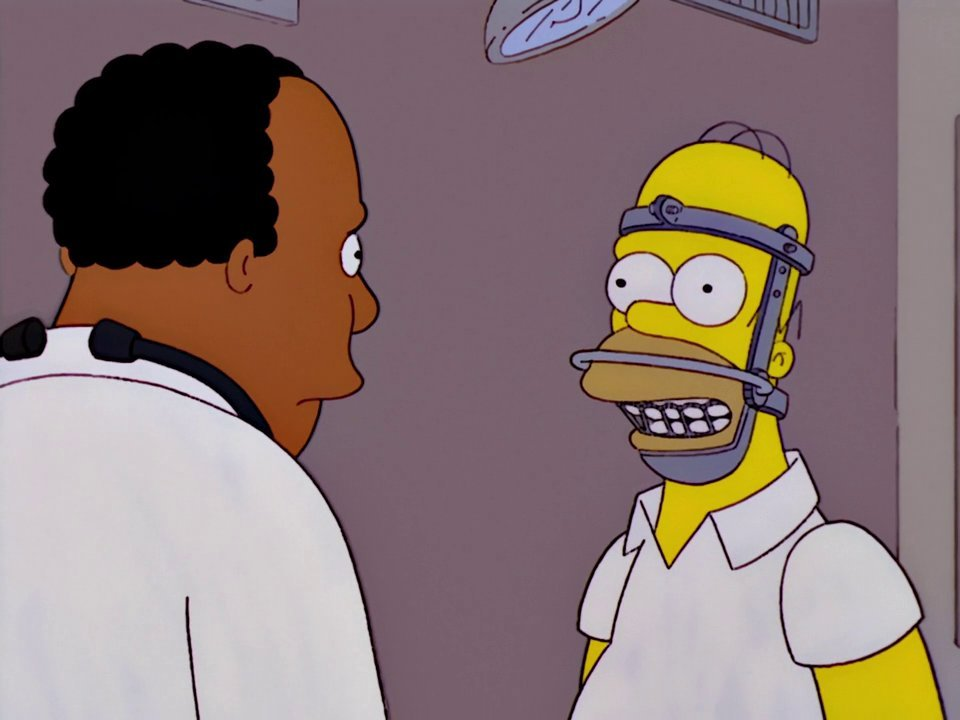"Jaws Wired Shut"" is the ninth episode of The Simpsons' thirteenth season"