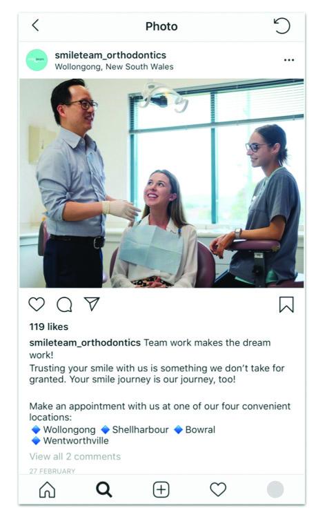 Dentist Instagram Post Example