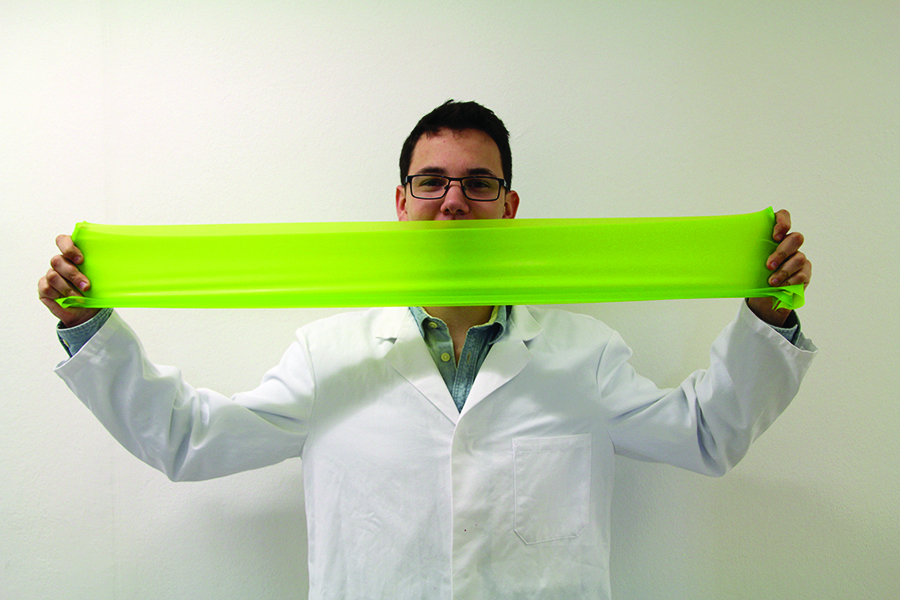 The best known elastic deformable material.