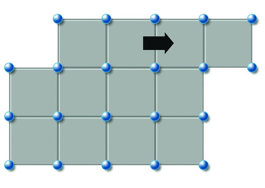 Plastic deformation of metal.