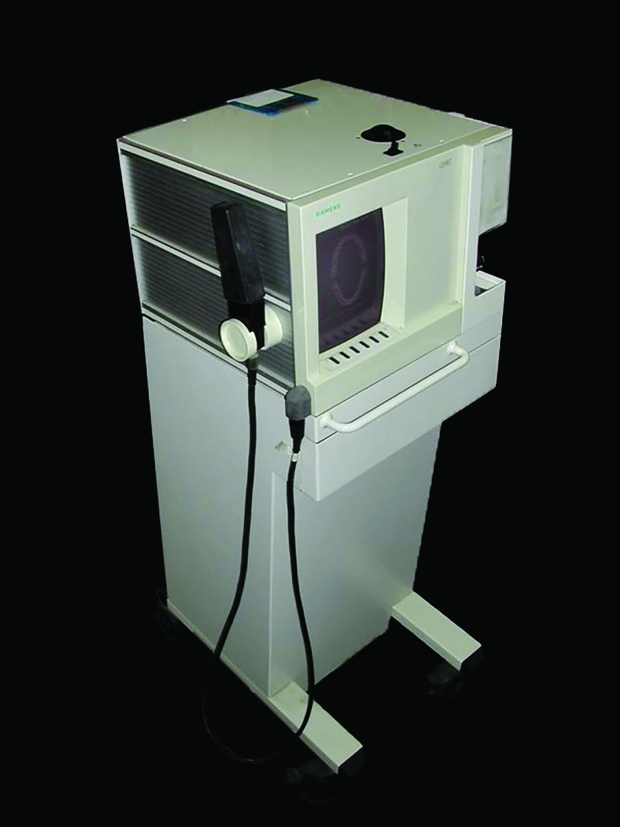 The original CEREC I system, the first commercially available 3D digital workflow.