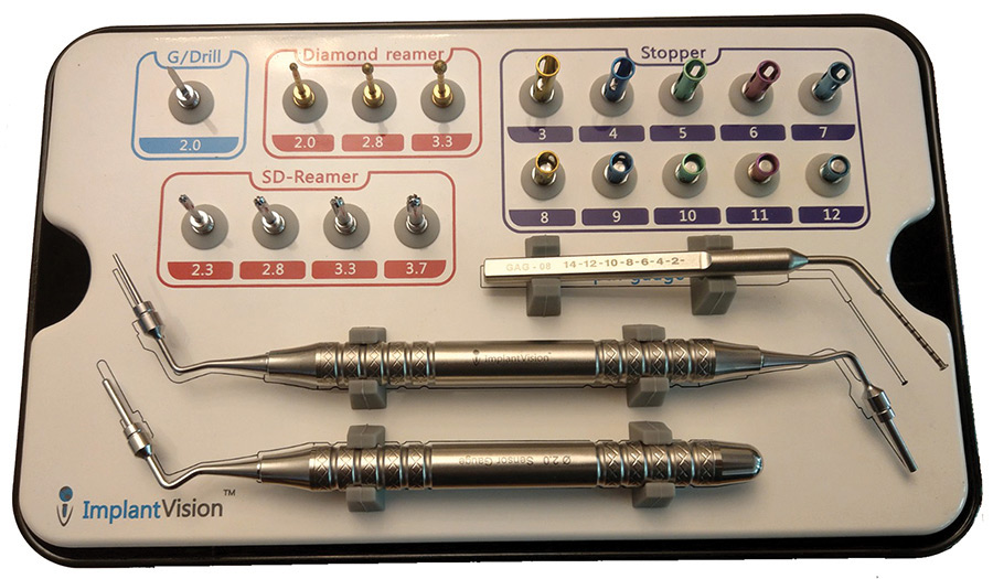 Crestal Sinus Kit (ImplantVision) with its components.
