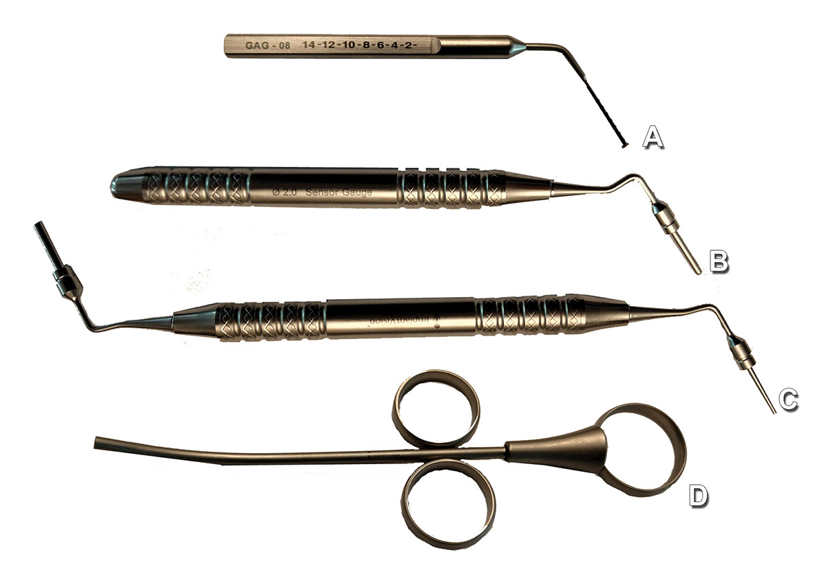 Hand instruments utilized during and after crestal sinus elevation