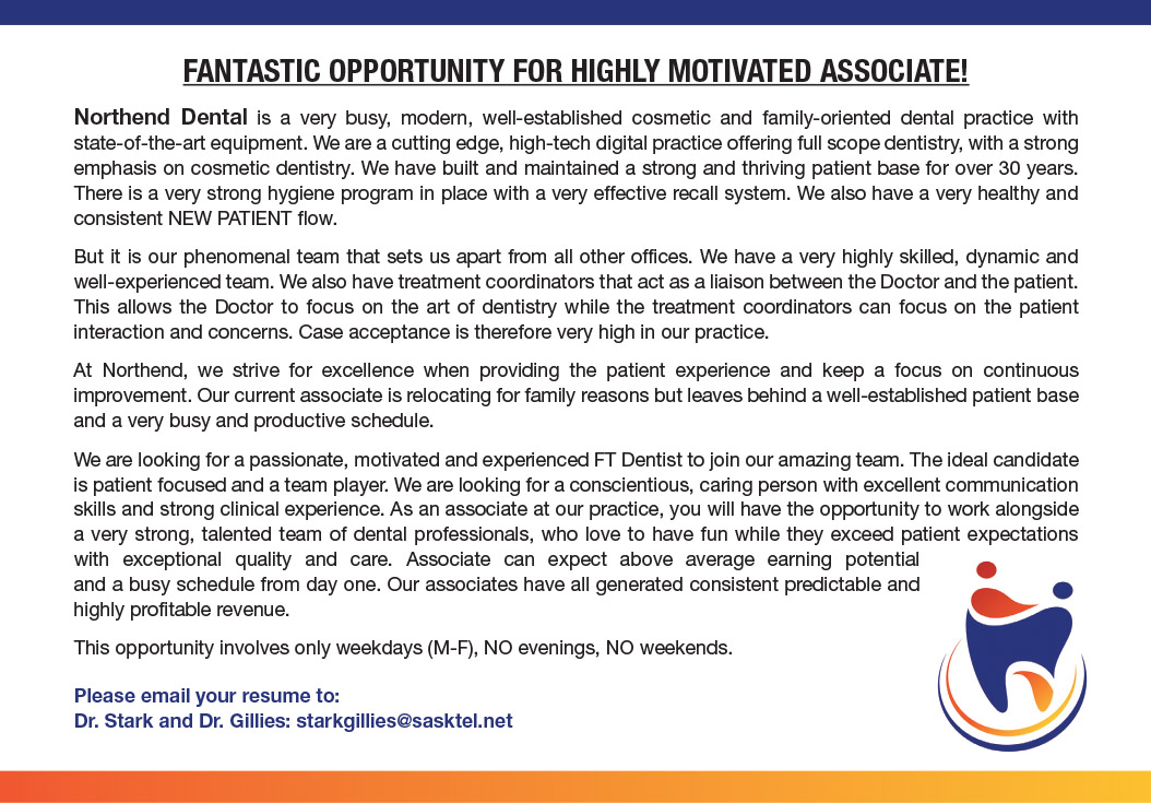 fantastic opportunity for highly motivated associate