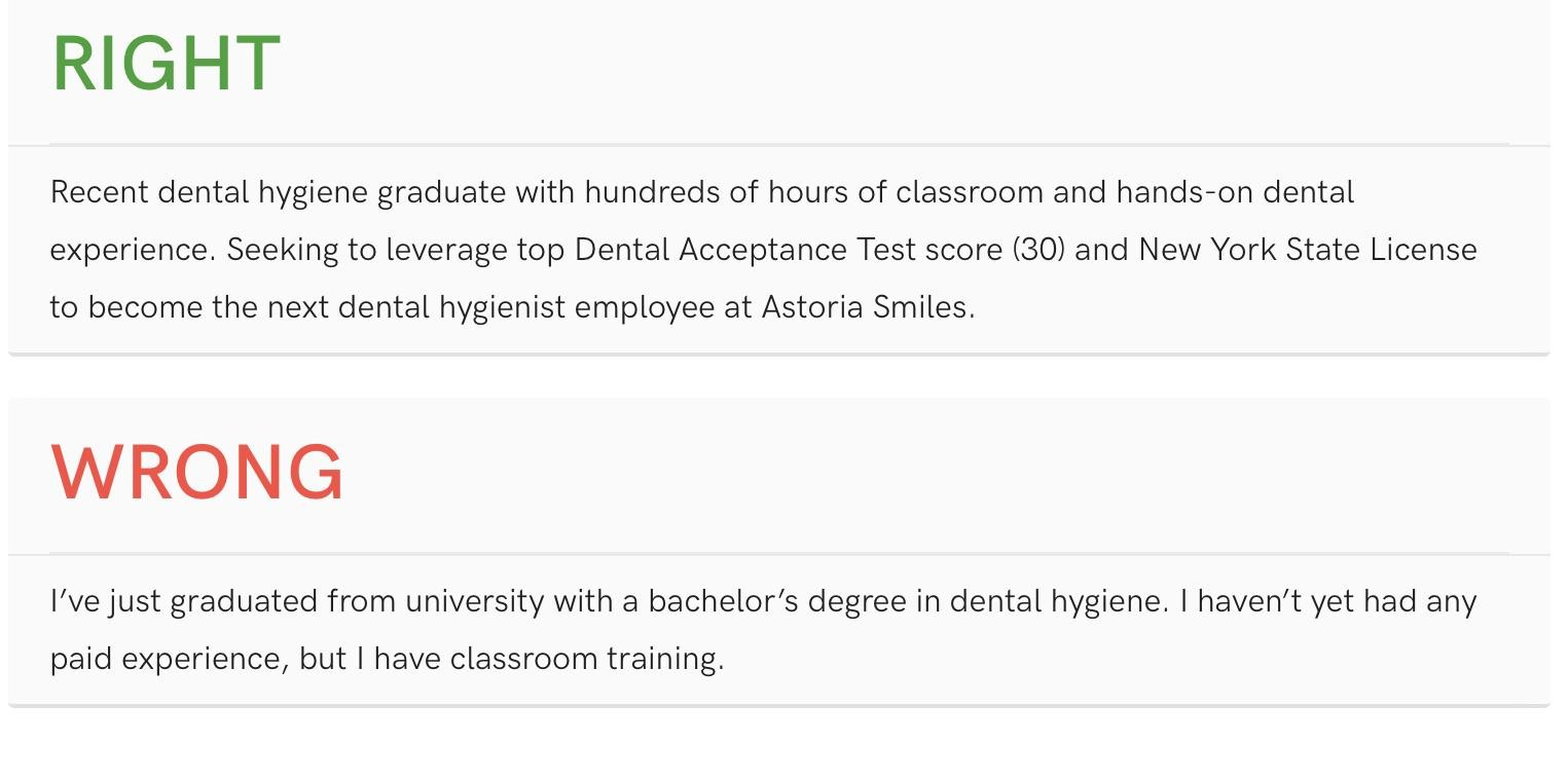 Top Dental Resume Samples Pro Writing Tips Oral Health Group
