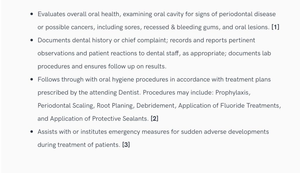 Dental Resume