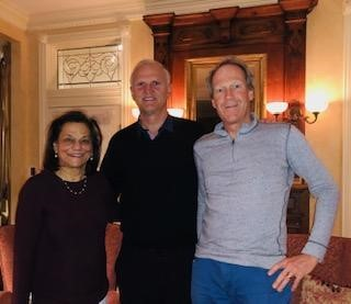 Dr. Ole T. Jensen (center) with Dr. Rena D'Souza (left) and Dr. David Grainger (right). Dr. D'Souza is the new Chairperson of the Department of Craniofacial Tissue Engineering at the University of Utah School of Dentistry and first person to hold the Ole and Marty Jensen Chair of Craniofacial Tissue Engineering. Dr. Grainger is Chairman of the Department of Bioengineering and will serve on the international selection committee for the annual Jensen Craniofacial Tissue Engineering Award.