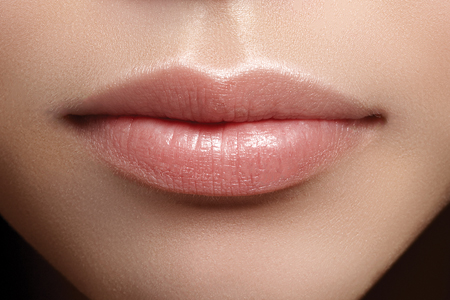 Unhealthy lips with poor barrier function, compared to healthy lips, well maintained with Lip-TxTM.