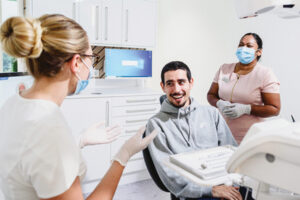 Stereotypical dentist-patient interaction – until recently.