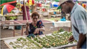 Markets in PNG dedicated solely to BQ vendors. Photo courtesy of Kathleen Prior.