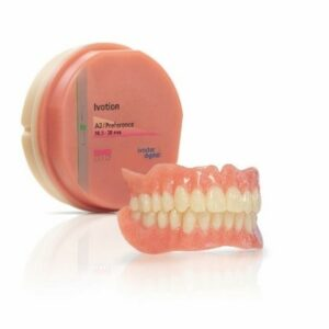 At the heart of the system is the unique Ivotion CAD/CAM disc that enables custom monolithic dentures to be fabricated in just one milling process.